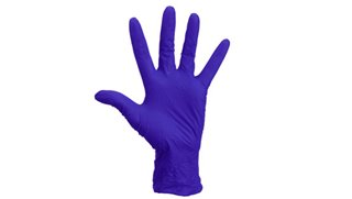 Premium Cool Blue Nitrile Examination Gloves Medium